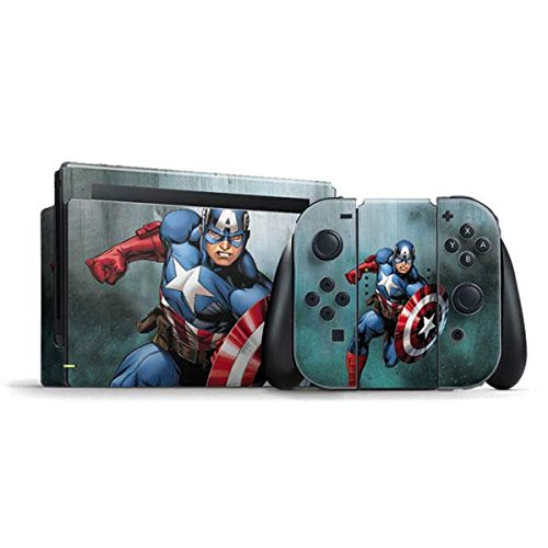 Marvel Captain America Nintendo Switch Bundle Skin - Captain America Vinyl Decal Skin For Your Switch Bundle