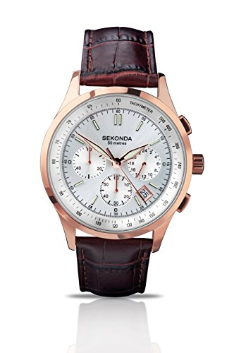 Gents Leather Strap - Sekonda Gents Rose Chronograph Strap Watch