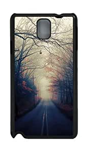 Beautiful Autumn Road PC Case and Cover for Samsung Galaxy Note 3 Note III N9000 Black