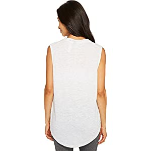 adidas Women's Winner Muscle Tank Top White/Mgh Solid Grey Tank Top