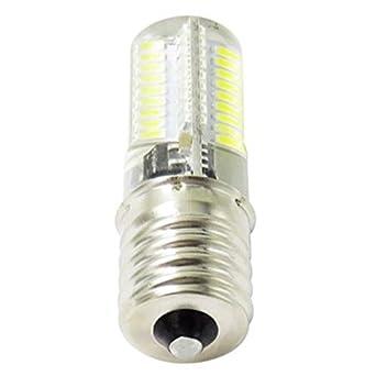 SODIAL LED Bombilla de maiz de atenuacion Mini lampara de silicona 72 Leds SMD 4014 E17