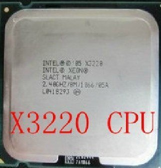 Intel Xeon X3220 2.4GHz/8M/1066 SLACT Quad Core CPU Processor Socket 775