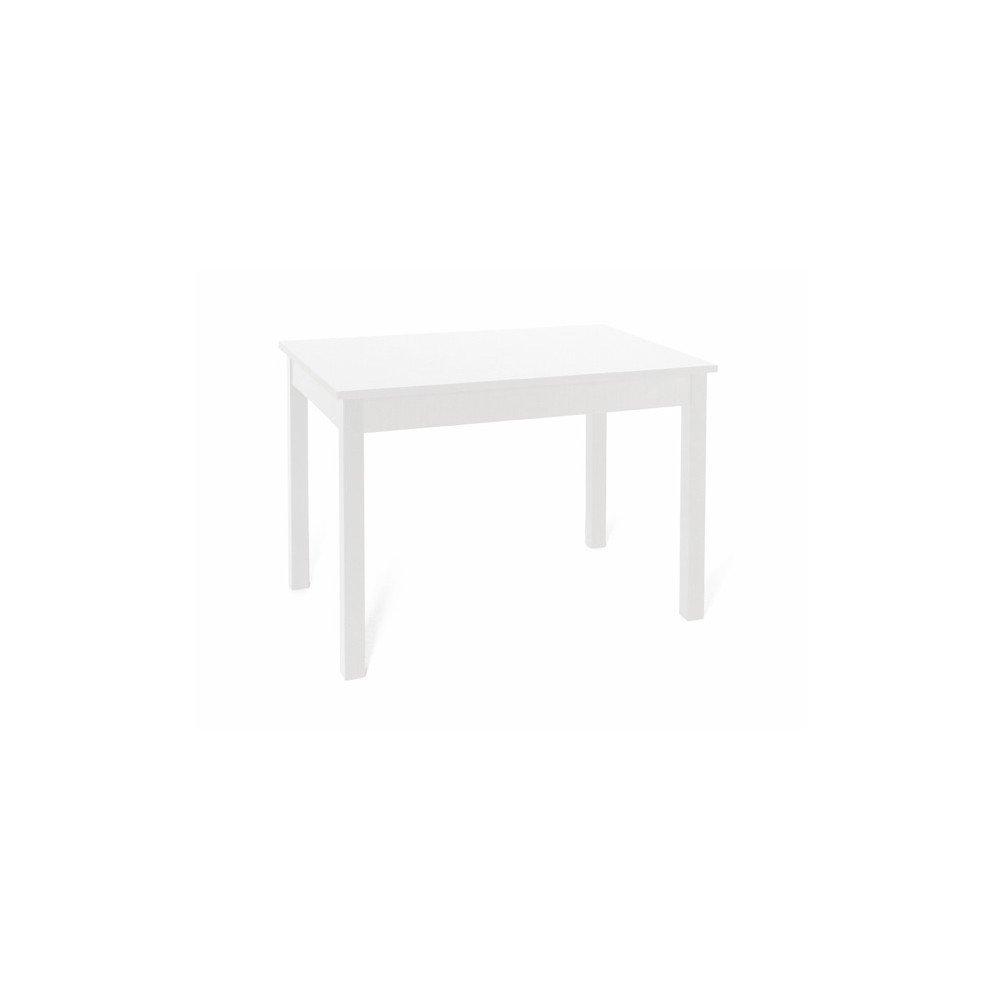 Tavolo da pranzo allungabile interamente in legno nobilitato cm 70x110/150 bianco WEBMARKETPOINT