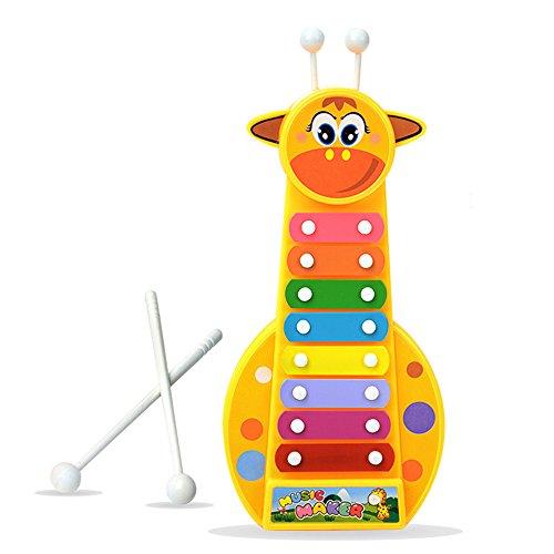 Baidercor 8 Tones Xylophone Musical Toys Standing Giraffe by Baidercor
