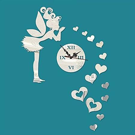 DJYJX - Reloj de pared con diseño de mapa, simple, silencioso ...