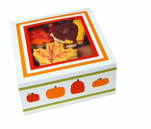 Wilton 415-1208 Halloween Pumpkin Patch Medium Cupcake Box, 4 Cavity ()