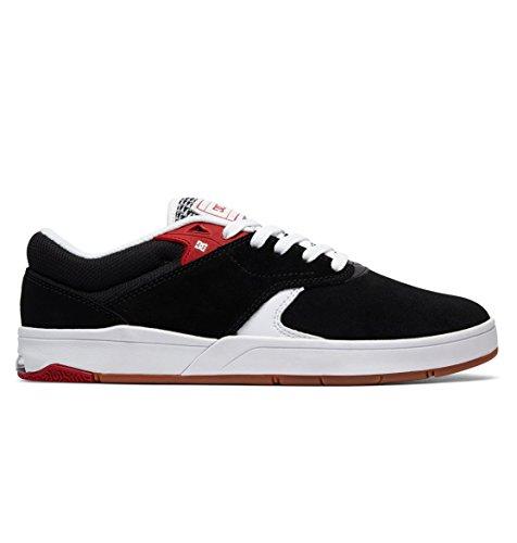 DC Shoes Mens Shoes Tiago S - Skate Shoes - Men - US 10.5 - Black Black/White/Red US 10.5 / UK 9.5 / EU -