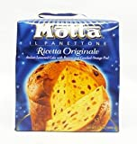 Motta Il Panettone Original Italian Leavened Cake with raisins and Candies Orange Peel 2.2 Pound Holiday Gift box