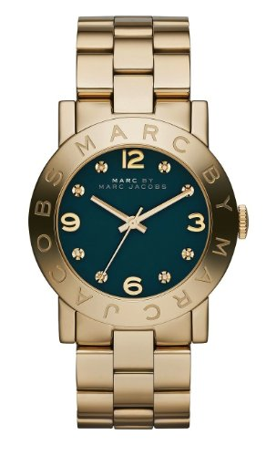 Marc Jacobs MBM8619 Women's Gold Tone Stainless Steel Bracelet Teal Dial Watch