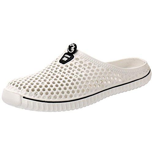 Aleader Sandales De Jardin Unisexe Confort Marche Pantoufles Chaussures Blanc