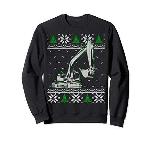 Heavy Equipment Excavator Operator Ugly Christmas - Operator Sweater