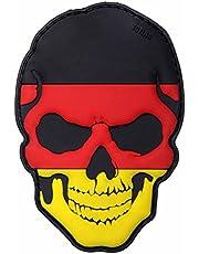 101 Inc. Emblem 3D Patch Skull doodskop Duitsland BRD zwart-rood-goud 5 x 9 cm klittenband badge