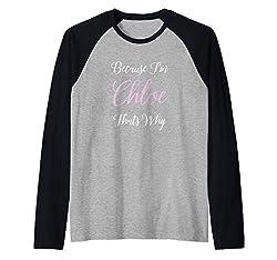 Chloe Name Gift Personalized Women Cute Birthday Teen Girl Raglan Baseball Tee