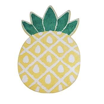 YOUSA Pineapple Door Mat Cartoon Area Rugs Pineapple Welcome Rug (32.6x19.3x7.1)