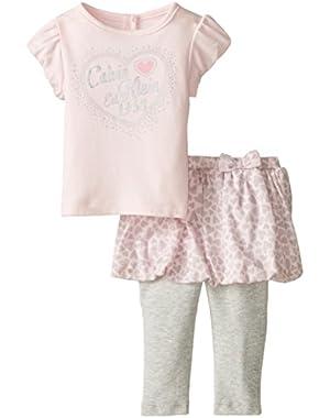Baby Girls' Light Pink Top and Skegging Set
