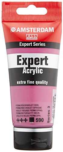 Amsterdam Expert Series Acrylic Tube 75ML PERMANENT RED VIOLET OPAQUE (590) Series 3
