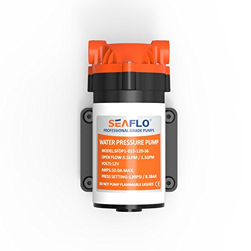 12V 1.5 GPM 120 PSI 36-Series Reverse Osmosis Diaphragm Water Pump by Seaflo (Image #2)