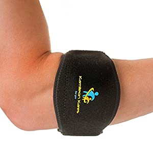 Tennis Elbow Brace for Treatment/Pain Relief of Elbow Tendonitis/Lateral Epicondylitis. Best Forearm Support Brace/Strap with Integral Compression Pad