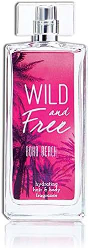 Wild and Free Boho Beach Hydrating Hair & Body Perfume by Tru Fragrance & Beauty - Coconut Water, Jasmine, Vanilla, Musk, Water Lily, Pink Amber - 3.4 oz