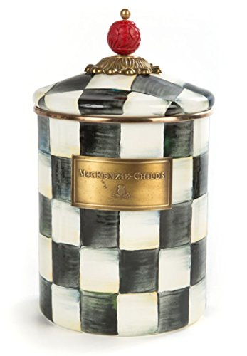 (MacKenzie-Childs Courtly Check Enamel Canister - Medium 5