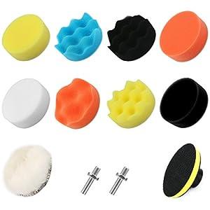 VERONES Car Foam Drill Polishing Pad Kit 25 PCS 3 Inch/80mm Buffing Pads, Waxing Polishing Sealing Glaze