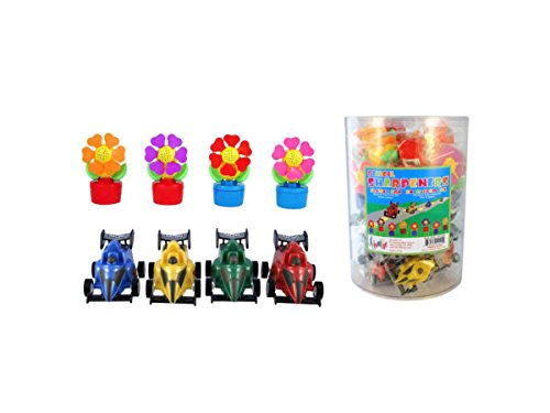Flower Fan & Race Car Pencil Sharpeners Countertop Display - Pack of 192 by bulk buys