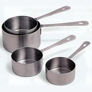 Home Kitchen Gadget Perfect Wedding or Housewarming Gift Idea Tool /& Utensils for Cooking /& Baking Metal Measuring Cups and Spoons: 7 Cup and 7 Spoon Stainless Steel Set of 14 for Dry Measurement