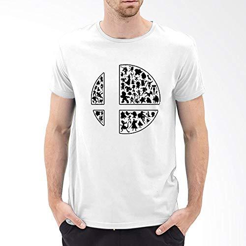 Bro T-shirt White (Super Smash Bros Ultimate Custom T-Shirt 100% Cotton (White, XL))