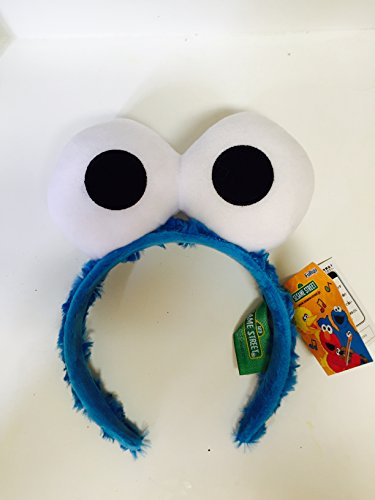 Cookie Monster And Elmo Costumes (Sesame Street Elmo Friend Cookie Monster Big Face Headband Head Band One Size)