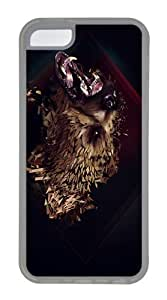 IMARTCASE iPhone 5C Case, Artistic Grizzly Bear Case for Apple iPhone 5C TPU - White