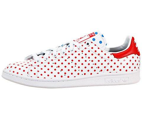 Adidas Originals Pharrell Stan Smith Polka Dot Mens Tennis Shoes B25401 Future White Red Bluebird 5 M Us