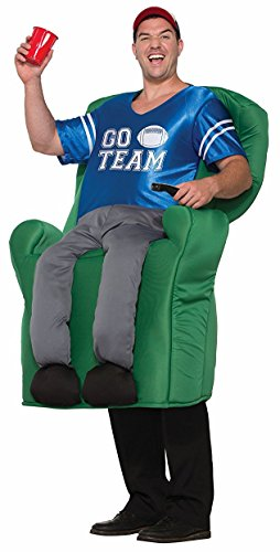 Forum Men's Armchair Quarterback Deluxe Costume, As Shown, (Funny Male Halloween Costumes Uk)