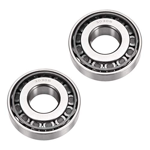 uxcell 30305 Tapered Roller Bearing Cone and Cup Set, 25mm Bore 62mm OD 17mm Thickness 2PCS