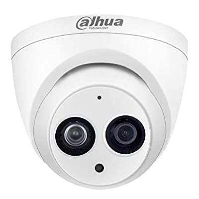 Dahua 4MP POE IP Camera IPC-HDW4433C-A Fixed Lens 2.8mm with Built-in Micro for Audio CCTV Camera Better Night Vision H.265 Full HD Mini Dome PoE Network Camera, IP67, IR 50m Day and Night, ONVIF from Dahua