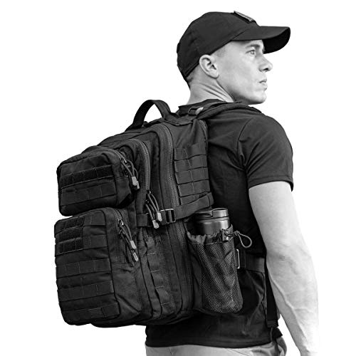 - SERGEANT Military Tactical Backpack, 1050D Ballistic Nylon, YKK Zippers, UTX Buckles, Molle. 35L 1-Day, Small Size, Assault Pack, Bug Out Bag, Rucksack, Daypack, Range, Camping, Hiking, Hunting.