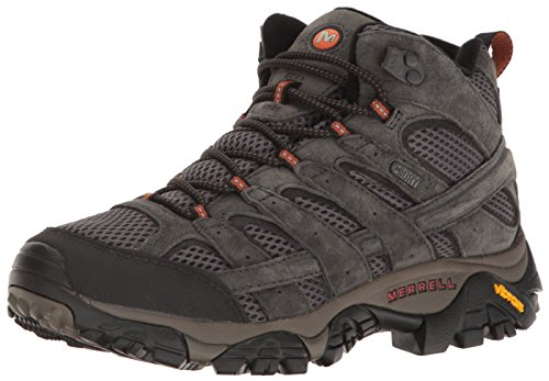 Merrell Men's Moab 2 Mid Waterproof Hiking Boot, Beluga, 12 M US (Moab Footwear)