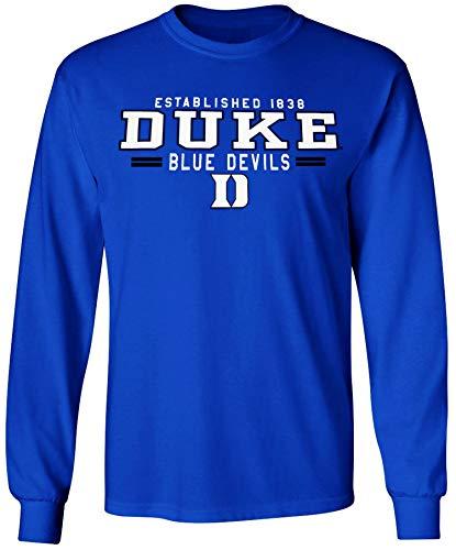 Duke Blue Devils Long Sleeve Shirt Basketball Jersey Decal Womens Mens Apparel (XL)
