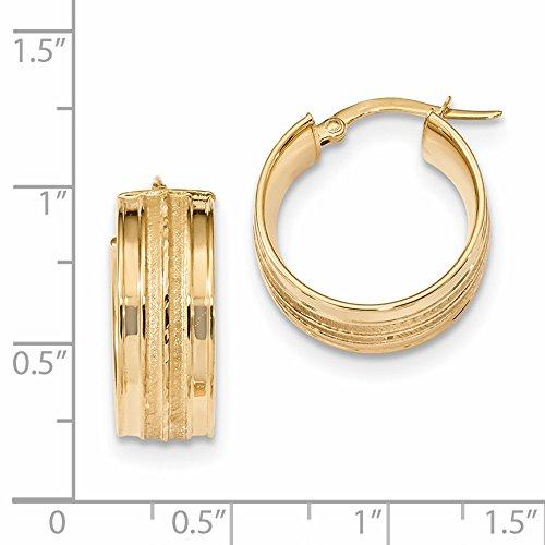 ICE CARATS 14k Yellow Gold Hoop Earrings Ear Hoops Set Fine Jewelry Gift Set For Women Heart by ICE CARATS (Image #2)