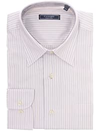 Classic Fit White And Blue Striped Cotton Dress Shirt