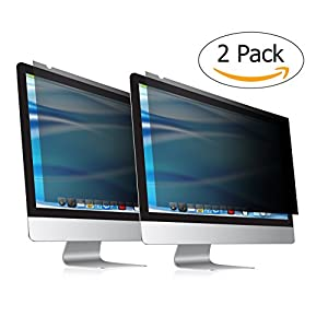 "24 Inch computer privacy screen & anti glare protector Fits 24"" Screens as Desktop Computer Monitors Mac Mackbooks and Laptop Screens This anti spy privacy filter Your Screen protect Your Privacy 2PK"