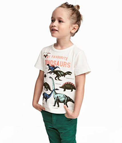 Winsummer Toddler Kids Baby Boys Short Sleeve Dinosaur Print Tops T-Shirt Blouse