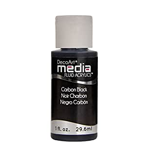 Deco Art Media Fluid Acrylic Paint, 1-Ounce, Carbon Black