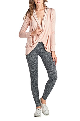 Beachcoco Women's Workout/Yoga / Active Wear/Dance Wear Wrap Hoodie (M, Pink)