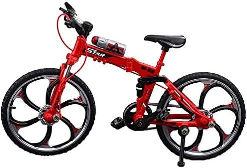 [해외]Toyvian Mini Bike Model Alloy Simulated Road Bicycle Finger Bike Decoration Gift Red - 1pc / Toyvian Mini Bike Model Alloy Simulated Road Bicycle Finger Bike Decoration Gift, Red - 1pc