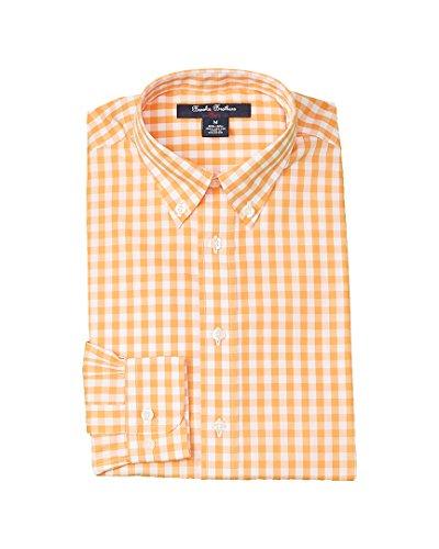 Brooks Brothers Boys Boys' Dress Shirt, L, Orange