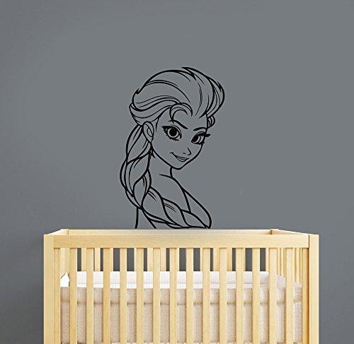 Elsa la nieve Queen calcomanía decorativo para pared Frozen Disney Princess vinilo calcomanía Dibujos Animados Arte...