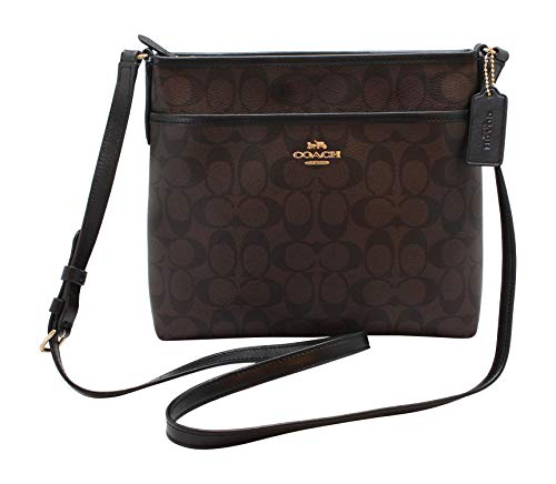 Coach FILE CROSSBODY IN SIGNATURE CANVAS, Im/Brown/Black, One Size ()