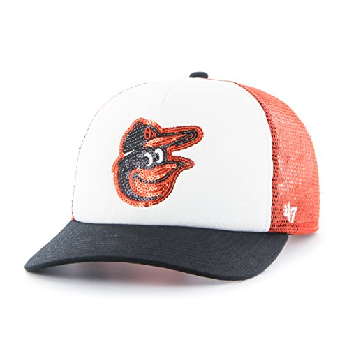 '47 MLB Baltimore Orioles Glimmer Captain CF Hat, One Size, Orange ()
