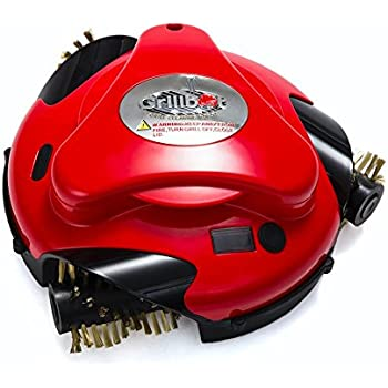 Grillbot automatic grill cleaner red for Motorized grill brush with steam cleaning power