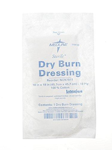 - Medline NON7913 4-Ply Burn Dressing, Sterile, 18